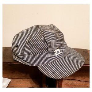 Vtg 1970's Lee Hickory Stripe Conductor Hat-Medium